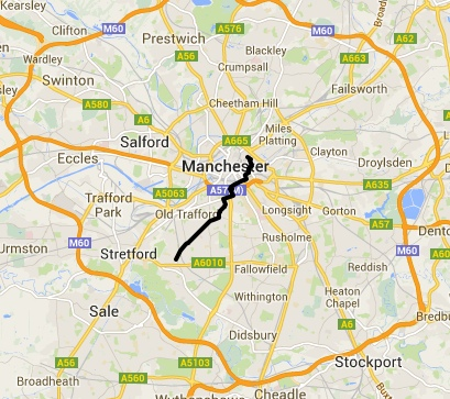 Bike Friday Chorlton Route
