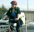 Cyclist in Greater Manchester