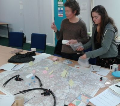Sue and Alice at Clean Air Workshop