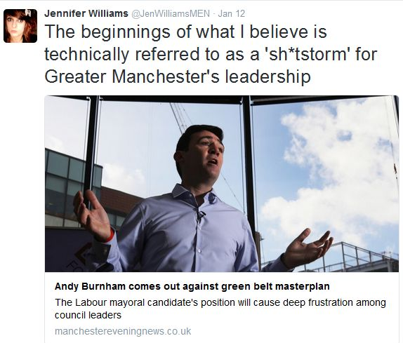 The beginnings of what I believe is technically referred to as a sh-tstorm for Greater Manchester's leadership