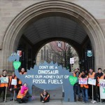 Light up the Arch for the Divest Protest