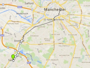 Stretford Bike Friday map