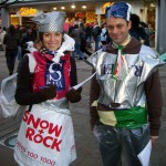 MFoE campaigners dress in plastic carrier bags