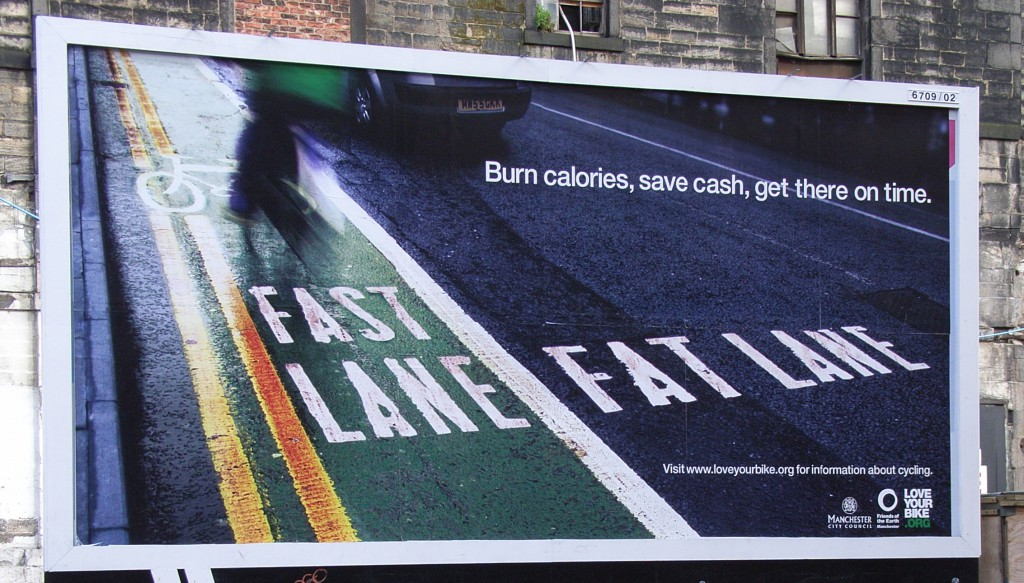 Fat Lane Fast Lane advert