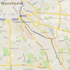 Levenshulme Bike Friday map