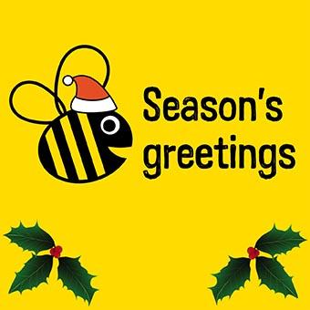 Christmas Bee Card