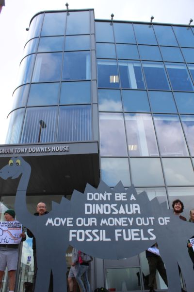 GMPF offices and fossil fuel dinosaur