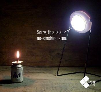 Solar Aid - No smoking area