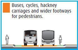 Buses cycles hackney cabs - circa 2009 design