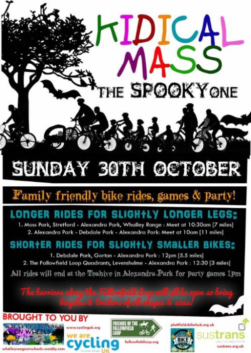 Kidical mass Spooky Halloween 30th Oct 2016 - Poster