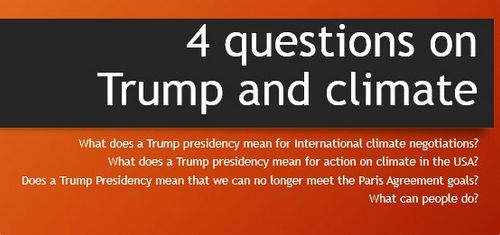 4 Questions on Trump and climate