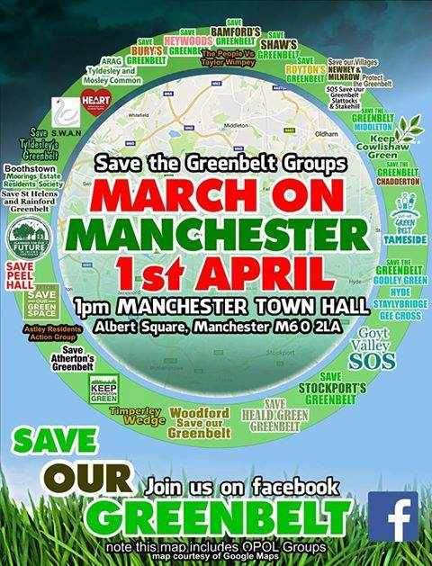 save the Greebelt groups - march on manchester