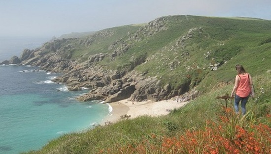 Greece? No, Porthcurno, Cornwall. Image: Marie Reynolds