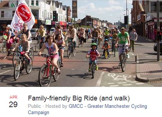 Family-friendly Big Ride (and walk)