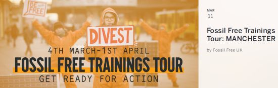 manchester friends of the earth fossil free trainings tour manchester