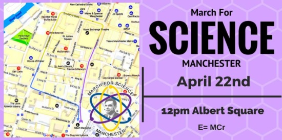 March for Science 22nd April 2017 E=mcr