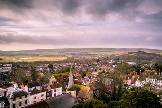 Housing in a picturesque village in England