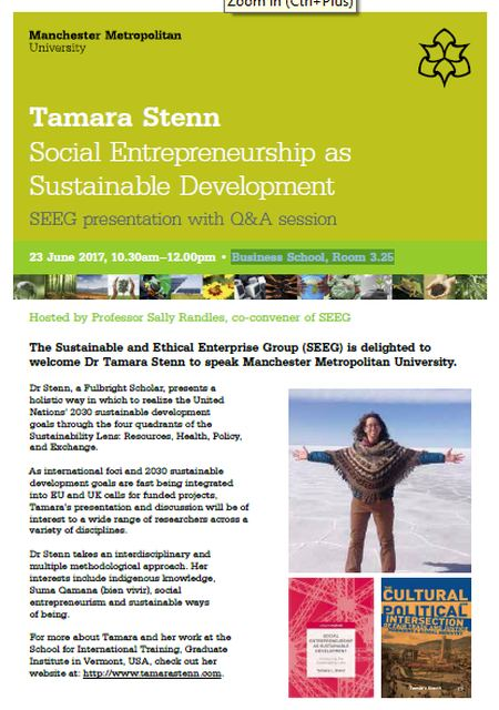 Tamara Stenn - Social Entrepreneurship as Sustainable Development